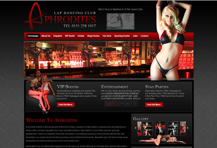 Aphrodites Website Design