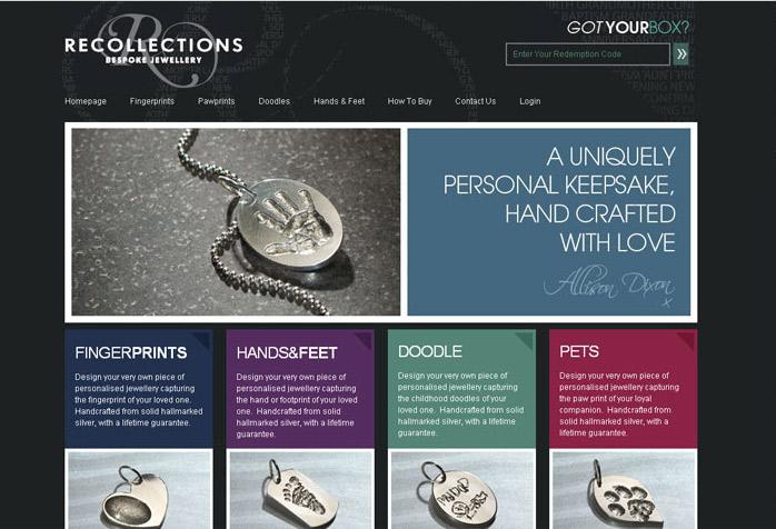 Recollections Website Design