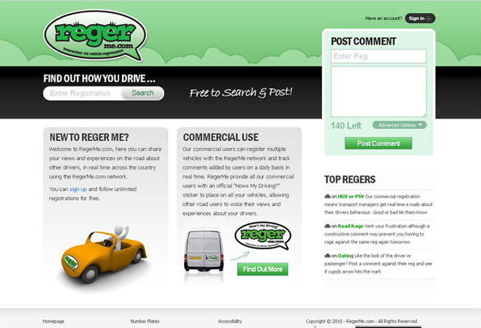 Reger Me Website Design