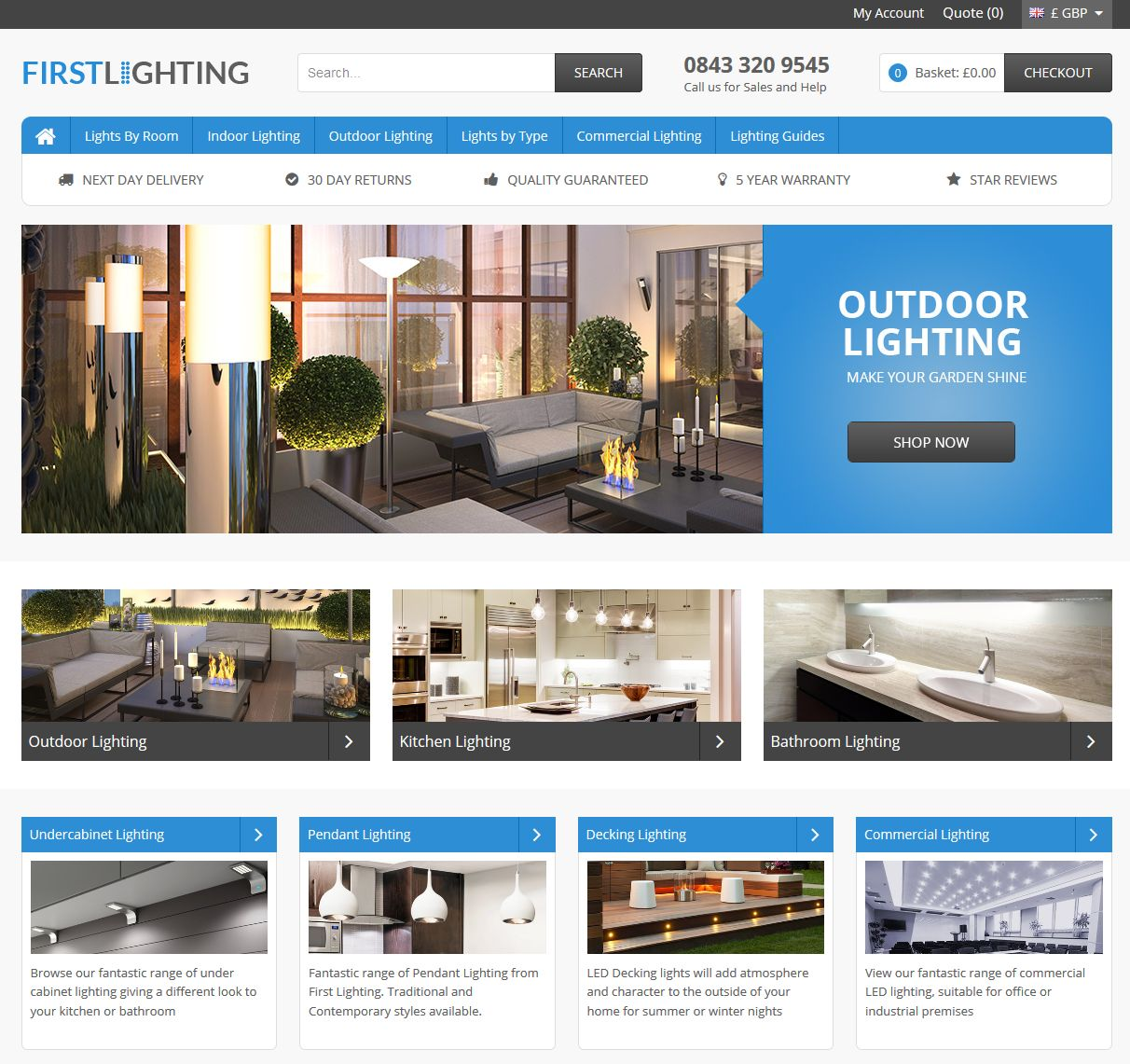 First LED Lighting Website Online