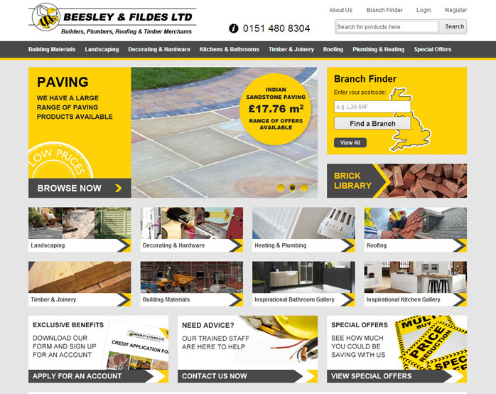 Beesley & Fildes Website Design