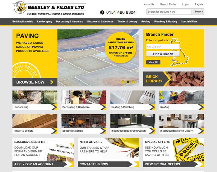 Beesley & Fildes Website Design
