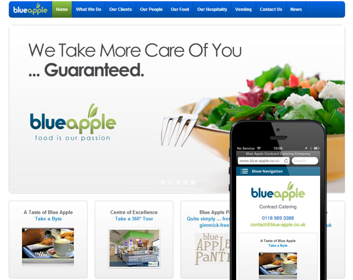 Blue apple responsive / mobile website design