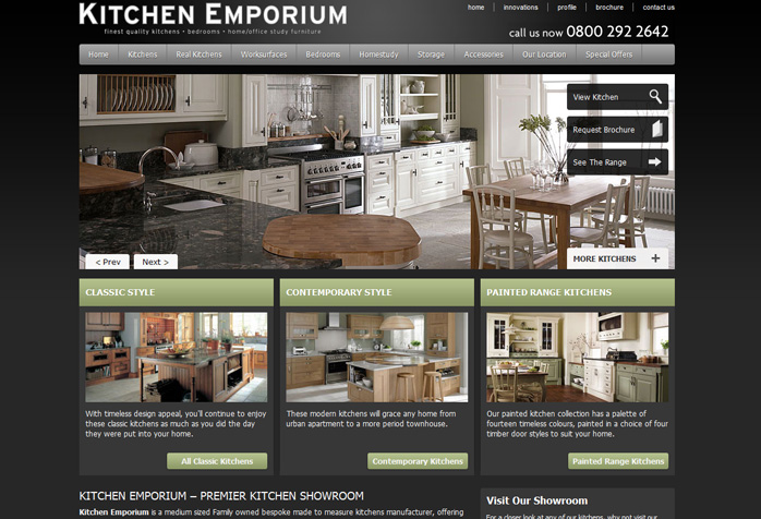 Kitchen emporium website design webdesign wigan for Top interior design websites