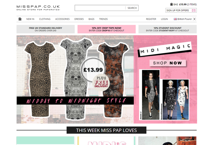 fashion e commerce website design from northwest online