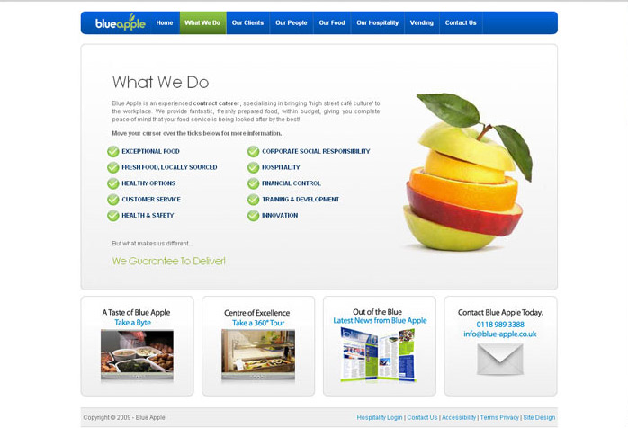 Blue Apple Website Design