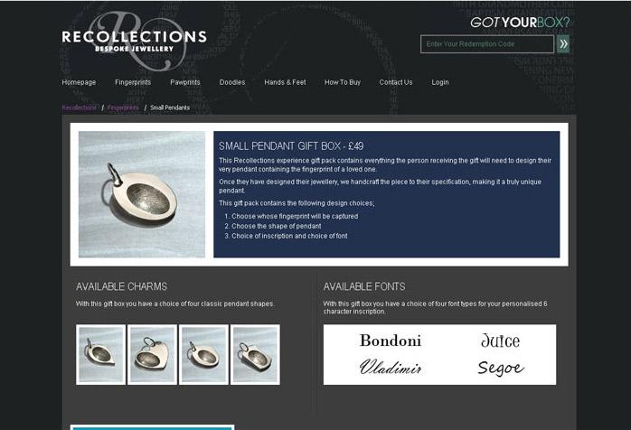Recollections Website Design
