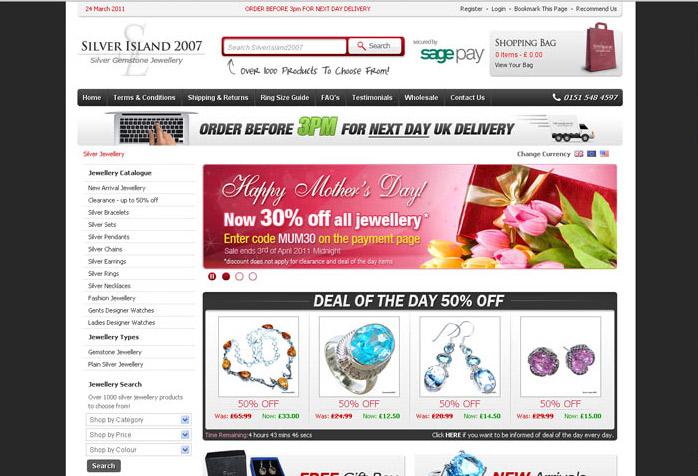Silver Island Website Design